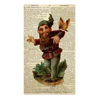 Página floral del diccionario del vintage del tarjetas de visita