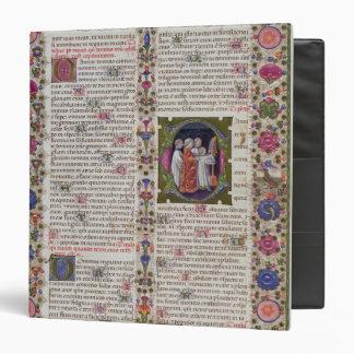 Página iluminada del libro de salmos