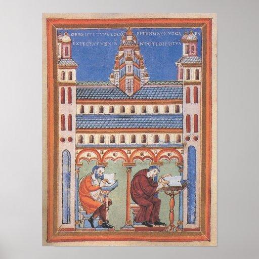 Página iluminada del santo posters