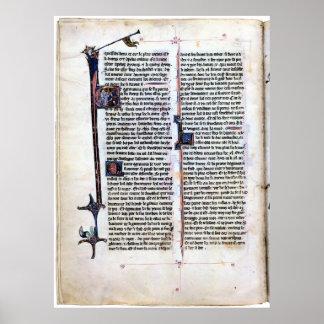 Página iluminada romance Arthurian Póster
