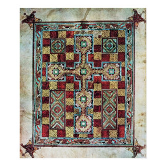 Página ilustrada de la alfombra de la cruz del man impresiones