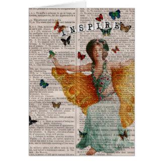 Página Notecard de Dictionay del bailarín de la ma Felicitacion
