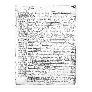 Página pasada 'de un la Recherche du Temps Perdu' Postal