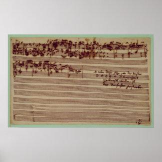 Página pasada del arte de la fuga, 1740s posters