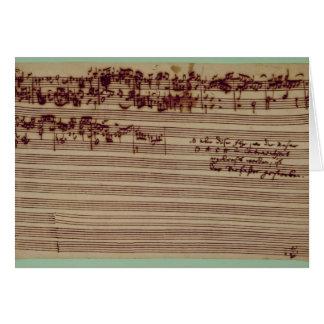 Página pasada del arte de la fuga, 1740s tarjetas