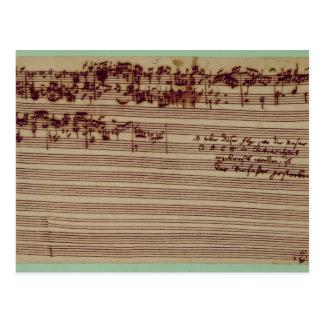 Página pasada del arte de la fuga, 1740s tarjetas postales