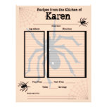 Página personalizada de la receta de Halloween Membrete A Diseño