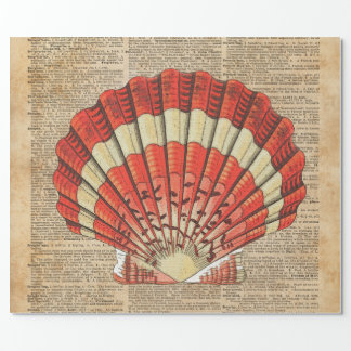 Página roja y blanca del libro del diccionario de papel de regalo