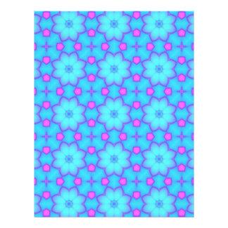 Páginas azules y rosadas del papel del libro de membrete personalizado