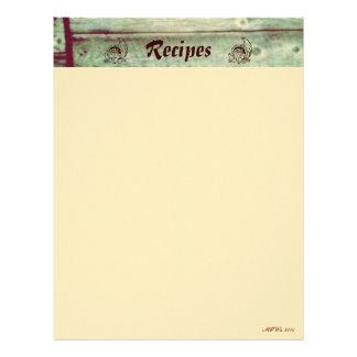 Páginas caseras de la receta del otoño membrete a diseño