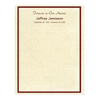 Páginas conmemorativas del llenador del libro, membrete a diseño