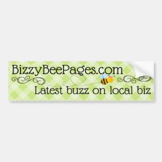 Páginas de la abeja de Bizzy Pegatina Para Auto