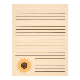 "Páginas de la carpeta de la receta del girasol folleto 8.5"" x 11"""
