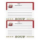 Páginas de la receta de la sopa para la carpeta de plantilla de membrete