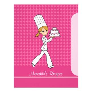 Páginas del chica del panadero para poner en un ín membrete