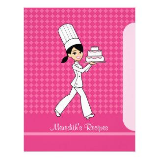 Páginas del chica del panadero para poner en un ín plantillas de membrete