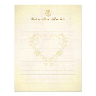Páginas del libro de visitas del boda de papel de membrete