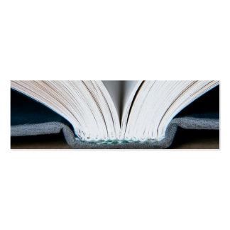 Páginas del libro (paquete de 20 pequeñas señales) tarjetas de visita