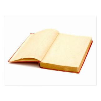 Páginas en blanco de un libro viejo postales