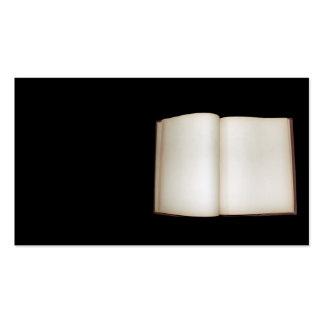 Páginas en blanco tarjeta personal