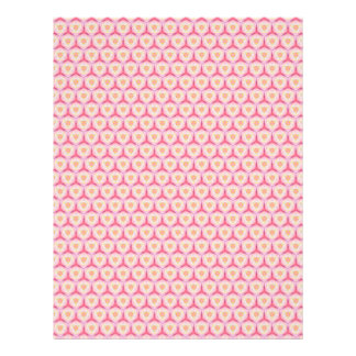Páginas geométricas rosadas del papel del libro de membretes personalizados