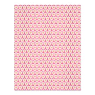 Páginas geométricas rosadas del papel del libro de plantilla de membrete