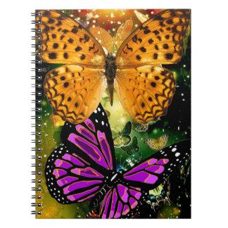 Páginas hermosas B&W) del cuaderno 80 de la foto
