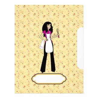 Páginas ilustradas para sus recetas membrete a diseño
