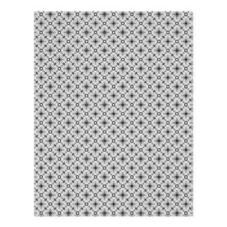 Páginas negras y blancas del vintage de la tela plantillas de membrete