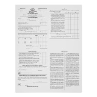 Páginas originales de la forma 1040 del impuesto s posters