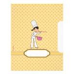 Páginas para las recetas - ilustradas membretes personalizados
