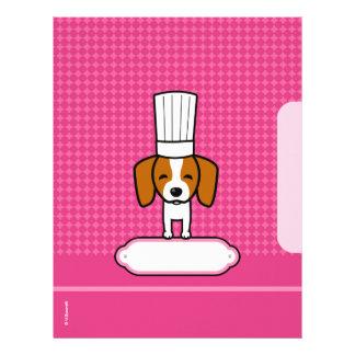 Páginas para las recetas - ilustradas membrete a diseño