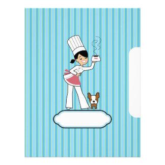 Páginas para las recetas - ilustradas membrete personalizado