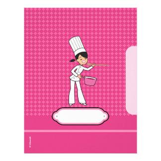 Páginas para las recetas - ilustradas plantillas de membrete