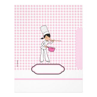 Páginas para las recetas - papel con membrete temá membrete personalizado