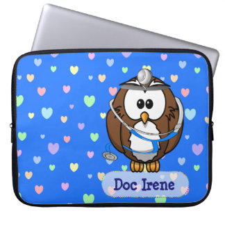 paging doc owl computer sleeve