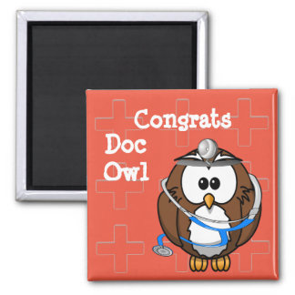 paging doc owl magnet