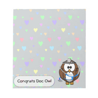 paging Doc Owl Notepad