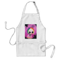 rainbow, sugar, fueled, cute, big, eyes, donut, sweet, coallus, michael, banks, sprinkles, Apron with custom graphic design