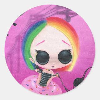 Paging Mr. Rainbow Classic Round Sticker