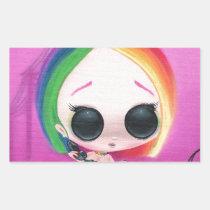 rainbow, sugar, fueled, cute, big, eyes, donut, sweet, coallus, michael, banks, sprinkles, Sticker with custom graphic design