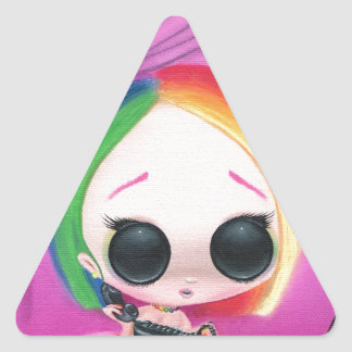 Paging Mr. Rainbow Triangle Sticker