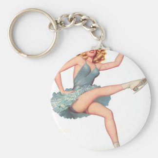 Paging the Iceman Basic Round Button Keychain