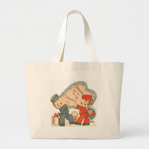 Paging you to be my Valentine Tote Bag