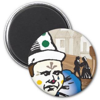 Pagliacci, Opera 2 Inch Round Magnet