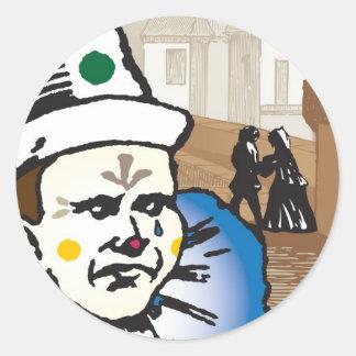 Pagliacci, Opera Classic Round Sticker