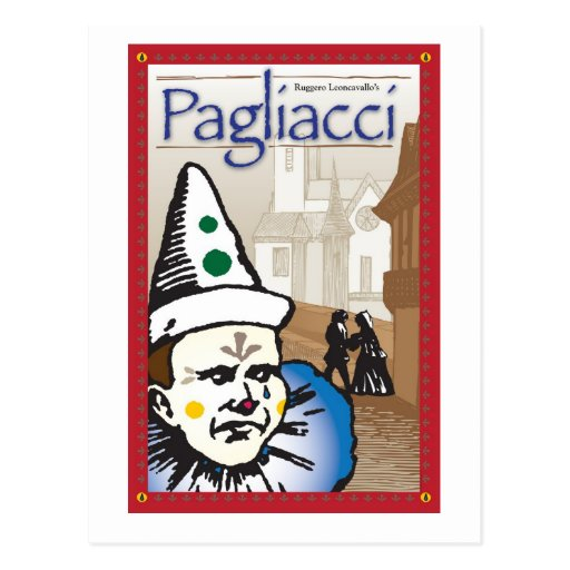 Pagliacci, Opera Postcard