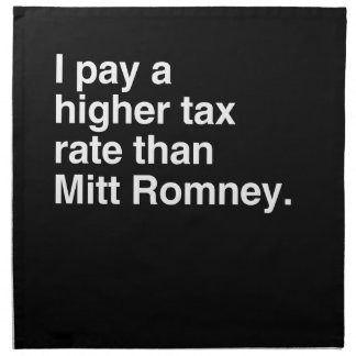 Pago a imposición fiscal más alta que Mitt Romney  Servilletas Imprimidas