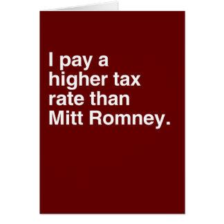 Pago a imposición fiscal más alta que Mitt Romney  Felicitación