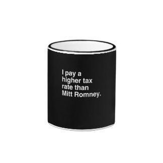 Pago a imposición fiscal más alta que Mitt Romney  Taza
